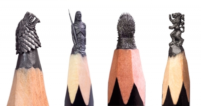 'Game of Thrones' figures on pencil tips by Salavat Fidai